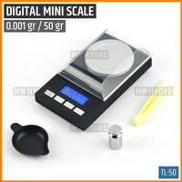 Mini Digital Jewelry Scale 0.001 gr / 50 gr, Timbangan Digital - TL