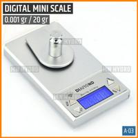 Mini Digital Jewelry Scale 0.001 gr / 20 gr, Timbangan Digital - A03