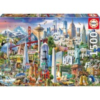 [READY] EDUCA - NORTH AMERICA LANDMARK PUZZLE 1500 PCS