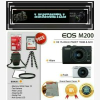 Canon Eos M200 Kit 15-45MM Paket 16GB&ACC-Kamera 4K Video Original