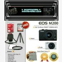 Canon Eos M200 Kit 15-45MM Paket 32GB&ACc-Kamera 4K Video Original