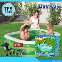Kolam Renang Anak Bestway Inflatable Kid Family pool 201 Pompa Listrik