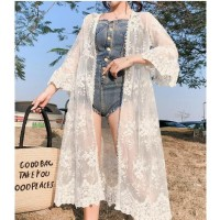 cardigan kimono lace pantai cover baju renang cover up bikini outer