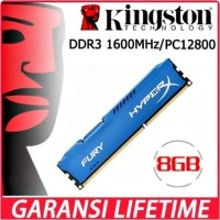 RAM KINGSTON HYPER X FURY GAMING LONGDIMM DDR3 8GB (8GB*1) PC 12800