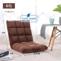 kursi lesehan /kursi lipat lantai/ lazy sofa 80×37cm - Cokelat