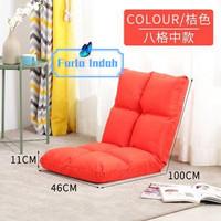 kursi lesehan/ kursi lipat lantai/kursi tatami IMPORT 100×46CM - Orange