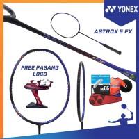 PAKET YONEX ASTROX 5 FX RAKET BADMINTON ORIGINAL