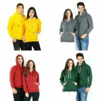 jaket hoodie jumper sweater polos unisex PRIA WANITA size M-XXL bahan