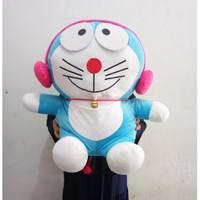 Boneka Doraemon Headset Ukuran 50cm - Doraemon Walkman Pink