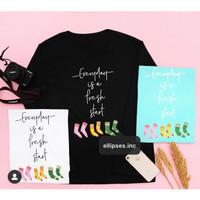Tumblr Tee/Shirt/Kaos Wanita Lengan Panjang FRESH START