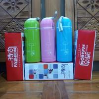 Termos Botol Air Minum + Tempat Obat 400 ml Fashion Cup Series Bagus