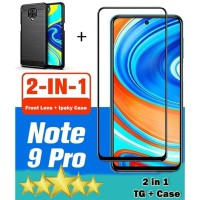 REDMI NOTE 9 PRO - 2IN1 TEMPERED GLASS 9D FULL LEM + IPAKY CASE