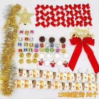 1Pack (98pc / 138) Set Gantungan Pohon Natal untuk Dekorasi.