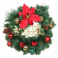 Hiasan Krans Natal Mini Cherry / Gantungan Pintu Natal / Pajangan Nata
