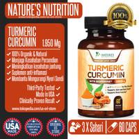 Natures Nutrition Turmeric Curcumin 1950Mg With Bioperine - 60 CAPSULE