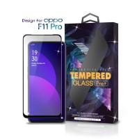 Tempered Glass Oppo F11 Pro Full Cover Black - Premium Glass Pro