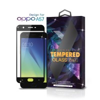 Tempered Glass Oppo A57 Full Cover Black - Premium Glass Pro