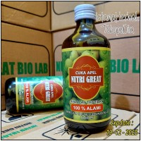 Cuka Apel Nutri Great Isi 300ml | Cuka Apel Nutrigreat Alami 300 Ml