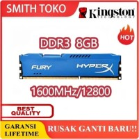 RAM DDR3 8GB KINGSTON HYPERX -With Heatsink- Pc12800 BARU PROMO !!