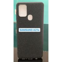 Samsung A21s Black Leather Case Flexibel Black Leather