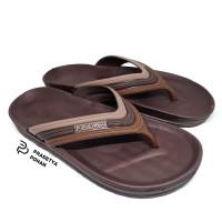Sandal Pria Anti Air - Sendal Jepit Pria FMA Cokelat Tua