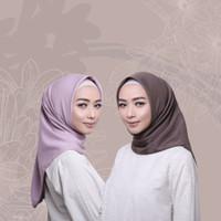 Hijab Wanita Ultrasatin Plain Scarf Voal Diario