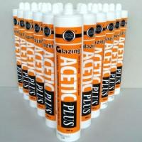 Lem kaca sealant botol silicone Glazing Acetic Plus aquarium asam