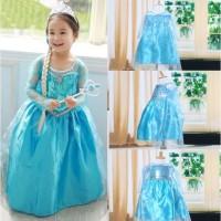 Baju Dress Frozen Elsa Gaun Pesta Rok Anak Baju Kostum Anak Frozen 2