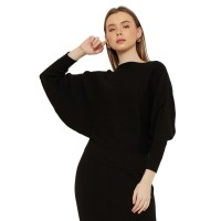 Noaeveryday/Rajut/Atasan Wanita/KANEEN Sabrina Knitted - Black