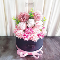 Artificial Flower Box Rose Pompom Hydrangea | Bunga Box | Bloom Box