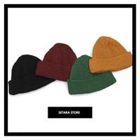 Kupluk Beanie Hat Polos Topi Kupluk Rajut Polos Short Beanie Hat