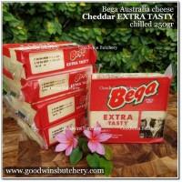 Cheese keju Australia BEGA CHEDDAR EXTRA TASTY 250gr chilled