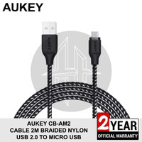 AUKEY CB-AM2 BLACK Kabel 2M Micro USB Fast Charging Samsung Xiaomi