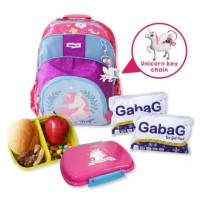 Jvk - Gabag Kids Unicorn Blink Backpack 2 in 1 - Pink - Tas Anak - Coo