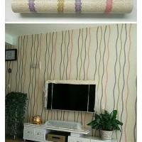 Home Wallpaper Sticker Dinding Garis 3 Benang - 45cm x 10 m