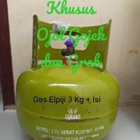 Tabung Gas Elpiji isi 3 kg warna hijau