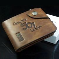 Dompet Pria Bifold Panjang Dengan Bahan Kulit import