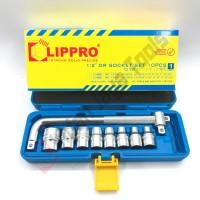 LIPPRO Kunci Sok Set 10 Pcs - Socket Set Shock Soket Set