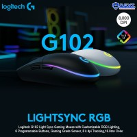 Logitech G102 LIGHTSYNC RGB 6 Button Gaming Mouse