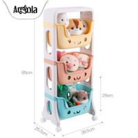 Rak Roda Susun C03 Rak Dapur/Kamar Mandi Tempat Penyimpanan Mainan - 3 Layer