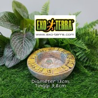 Exoterra Aztec Water Dish Medium / Wadah Tempat Air Minum Reptil