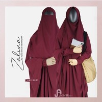 Set Gamis ZALINA (French Khimar +Niqab Bandana)