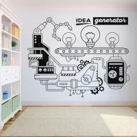 Wall Sticker Idea Generator Stiker Dinding Kaca Rumah Murah - Putih
