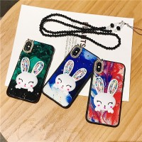 Samsung Galaxy A10 A20 A30 A50 A70 J5 J7 Pro 3D rabbit Glitter