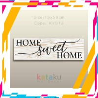 Promo -- Hiasan Dinding PictBox Home Sweet Home Sign Dekorasi Pajangan