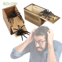 BOLONI Joke Toy Spider Hidden in Case Play Trick Wooden Funny Gift