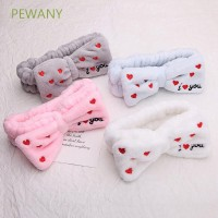 PEWANY Bow Turban ILOVE Coral Fleece Letter Hairbands
