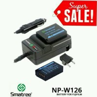 Smatree Battery NP-W126 2pcs with Charger for Fujifilm X-Pro2 Pro1 T