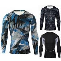 Kaos T-Shirt Lengan Panjang Compression untuk Olahraga / Gym