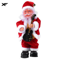 Electric Santa Claus Singing Dancing Guitar Doll Toy New Year Gift